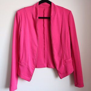Jackets & Blazers - Rose Pink Jacket with Faux Zipper Detail